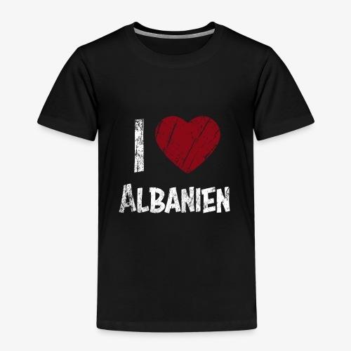 I Love Albanien - Kinder Premium T-Shirt