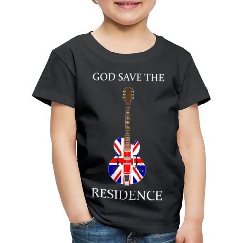 BRITROCK GUITAR WHITE - Kinder Premium T-Shirt