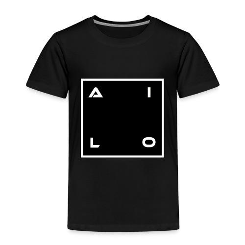DJ Logo Svart - Premium-T-shirt barn