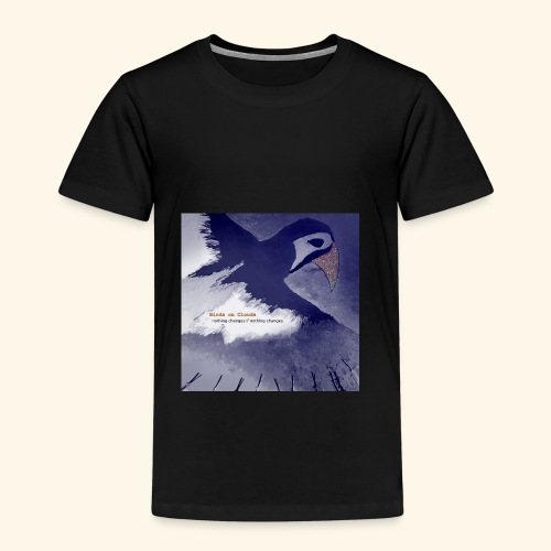 Birds on Clouds stålblå fågel - Premium-T-shirt barn