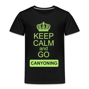 keep calm and go canyoning 2 - Kinder Premium T-Shirt