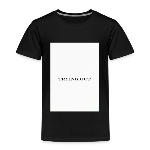 trying out - Kinderen Premium T-shirt
