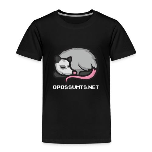 OpossumTS-Logo mit Schrift (WEiß) - Kinder Premium T-Shirt