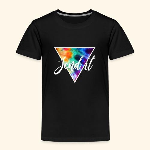 Send It Design, Polygon und Schrift weiß - Kinder Premium T-Shirt