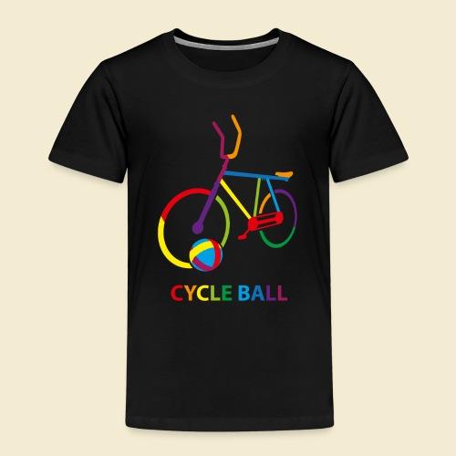 Radball | Cycle Ball Rainbow - Kinder Premium T-Shirt