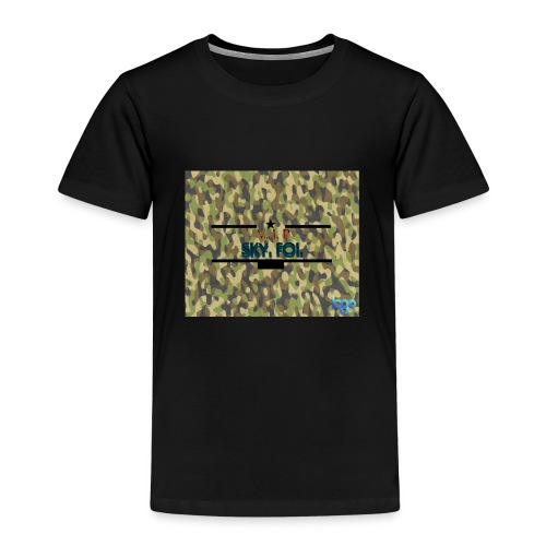 Sky.fol Camouflouge Logo - Kinder Premium T-Shirt