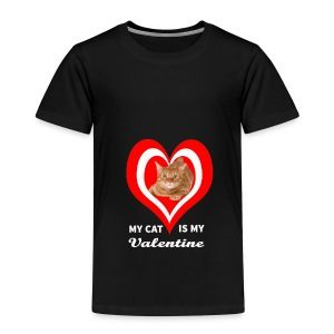My Cat is my valentine - Kids' Premium T-Shirt