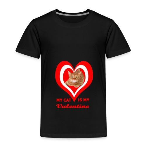 My Cat is my valentine 4 - Kids' Premium T-Shirt