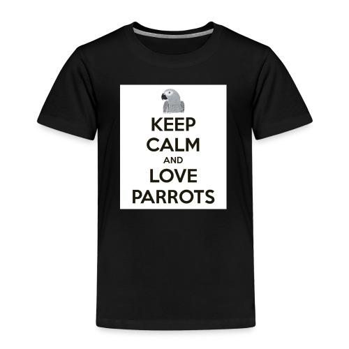 keep calm and love parrots 52 1 - Kinderen Premium T-shirt