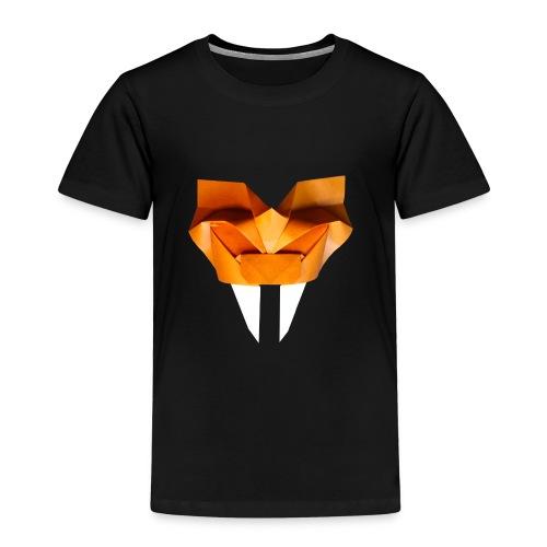 Origami Saber Toothed Tiger Mask - Origami Tiger - Kids' Premium T-Shirt
