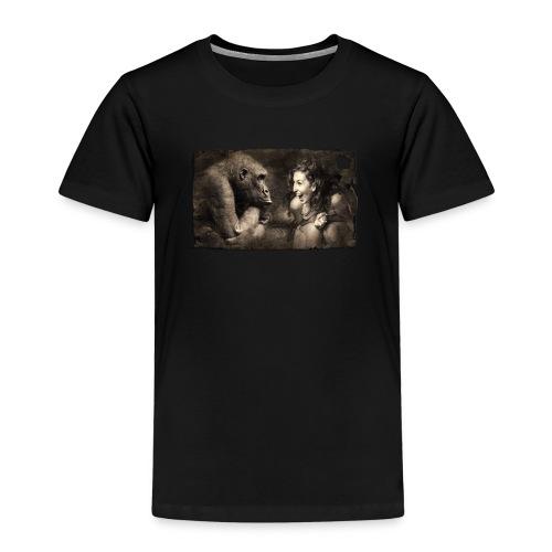 Girl & Monkey - Kids' Premium T-Shirt