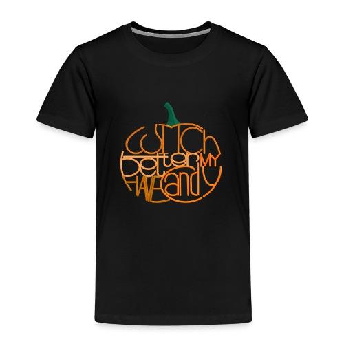Græskar med citat - Børne premium T-shirt
