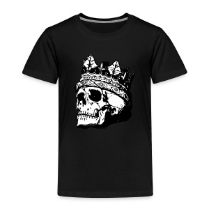 skull with crown - Kinder Premium T-Shirt
