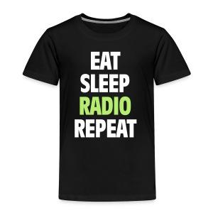 Eat Sleep Radio Repeat T-shirt - Premium-T-shirt barn