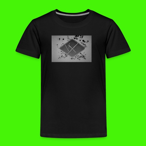 white,gray and black vX logo - Kids' Premium T-Shirt
