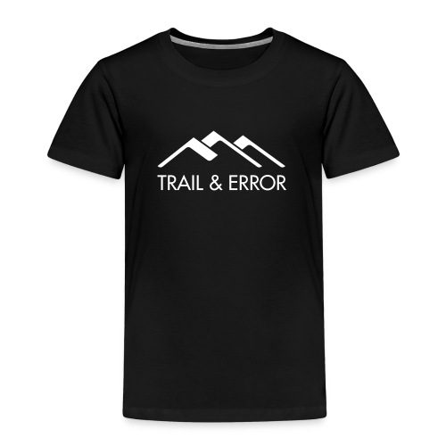 TRAIL & ERROR Logo Weiß - Kinder Premium T-Shirt