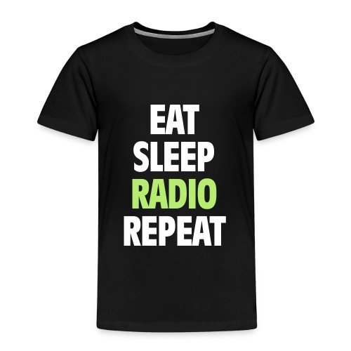 Eat Sleep Radio Repeat T-shirt - Premium-T-shirt barn