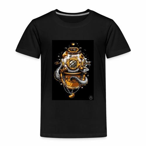 Dibujo de casco de buzo antiguo - Camiseta premium niño