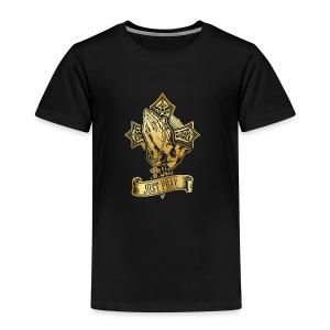 just pray in gold - Kids' Premium T-Shirt