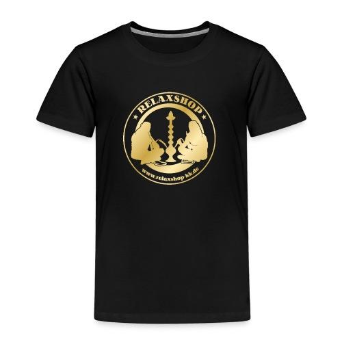 Relaxshop Logo gold weiss! - Kinder Premium T-Shirt