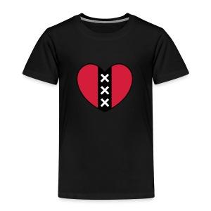 Hart met het symbool van de stad Amsterdam - Kinderen Premium T-shirt