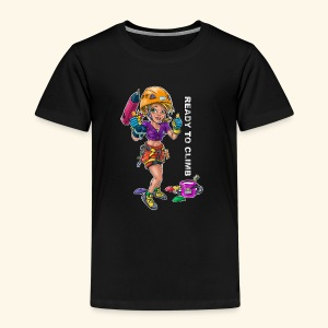 Little female climber - Ready to climb - Kids' Premium T-Shirt