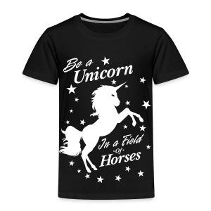 Unicorn in a field of Horses - Kids' Premium T-Shirt