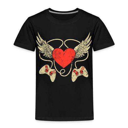 Gamer Herz - Controller - Kinder Premium T-Shirt
