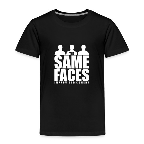 Same Faces Logo - White - Kids' Premium T-Shirt