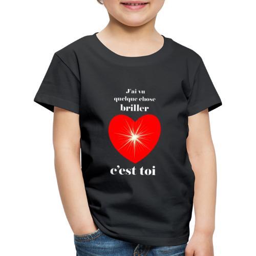 Coeur brillant ...amoureux ou inspiré FS - T-shirt Premium Enfant
