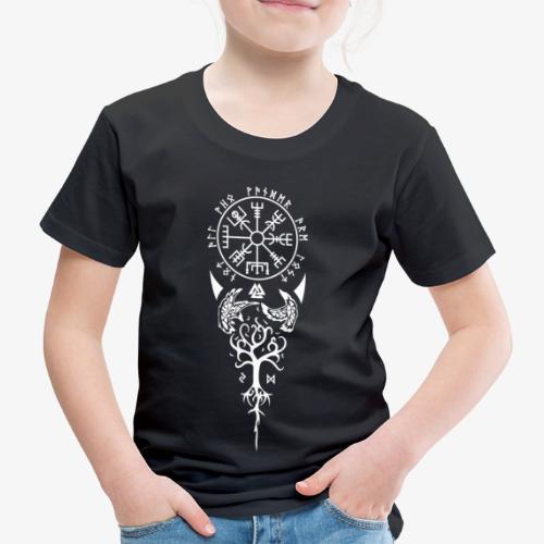 Vegvisir Runen Wikingerkompass nordisches Symbol - Kinder Premium T-Shirt
