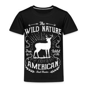 REAL HUNTER - Jäger Hunter Hunting Wildnis Shirt - Kinder Premium T-Shirt