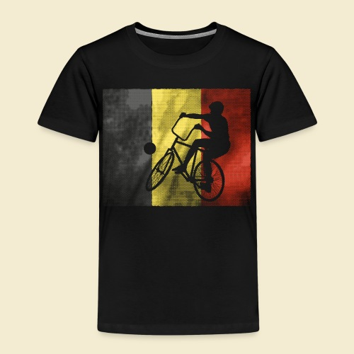 Radball   Flagge Belgien - Kinder Premium T-Shirt