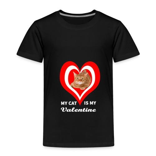 My Cat is my valentine - Kids' Premium T-Shirt