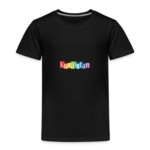 Kurdistan designstyle colors m - Kinder Premium T-Shirt