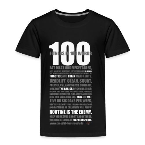 100 WORDS DARK SHIRT - Kinder Premium T-Shirt