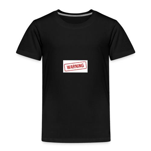 Warning design - Kids' Premium T-Shirt