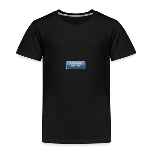 donatebutton - Børne premium T-shirt