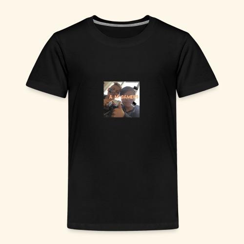 deksel am gamerz - Premium T-skjorte for barn