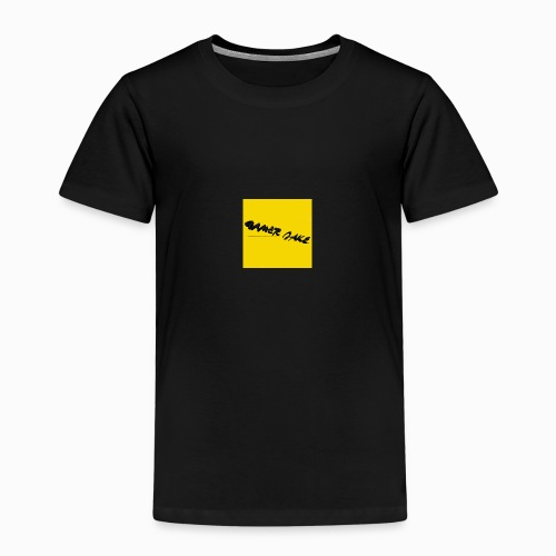 Gamer Jake black on gold logo shirt - Kids' Premium T-Shirt