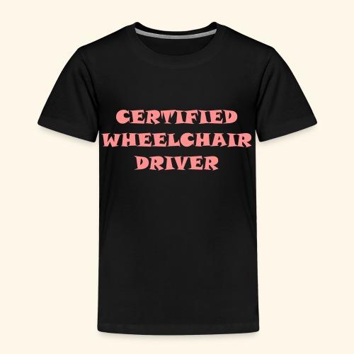 Certified Wheelchair driver1 - Kinderen Premium T-shirt