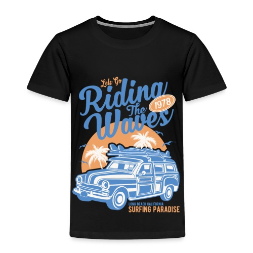 Riding The Waves Vintage Style - Kids' Premium T-Shirt