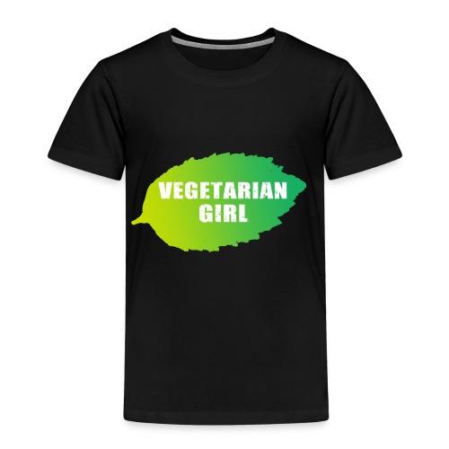 vegetarian girl - Lasten premium t-paita
