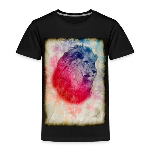 retrato vintage leon - Camiseta premium niño