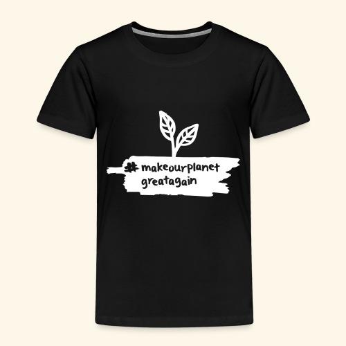makrourplanetgreatagain weiss 02 - Kinder Premium T-Shirt