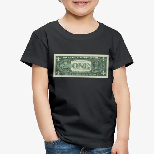 Dollar Note 1$ Geldschein - Kinder Premium T-Shirt