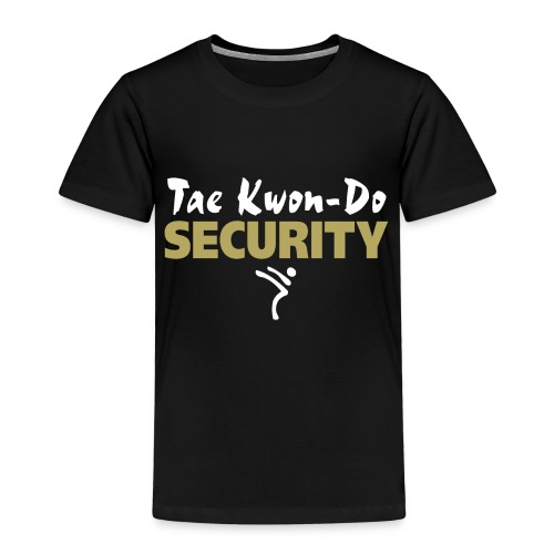 Taekwondo Security white & gold print - Kids' Premium T-Shirt
