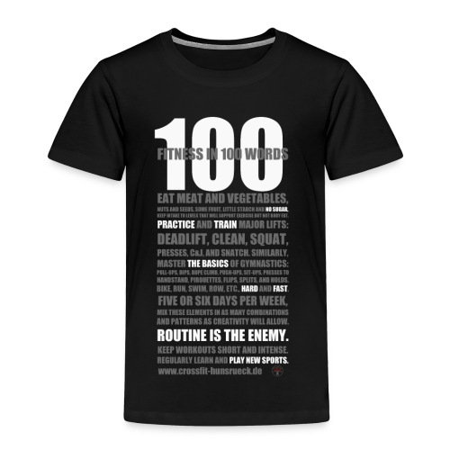 100 WORDS DARK SHIRT - Kinder Premium T-Shirt