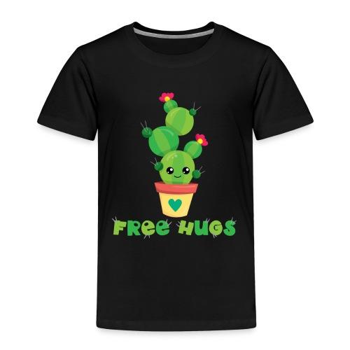 FREE HUGS - Kakteen Comic Kaktus Geschenk Shirts - Kinder Premium T-Shirt