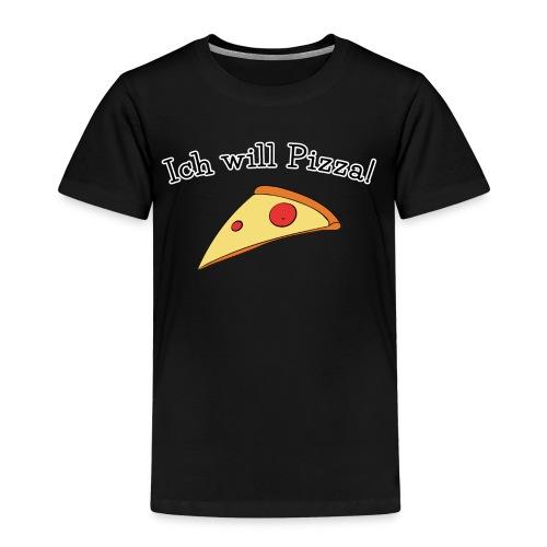 Ich will Pizza das Design zum Kartenspiel - Kinder Premium T-Shirt